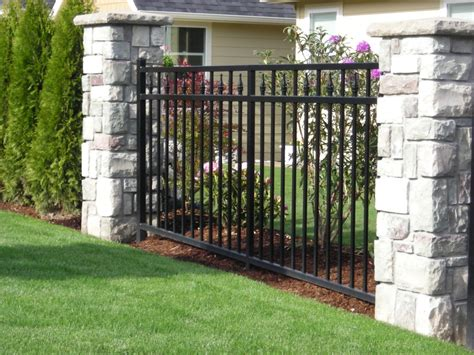 fences outdoor ornamental iron outdoor fence
