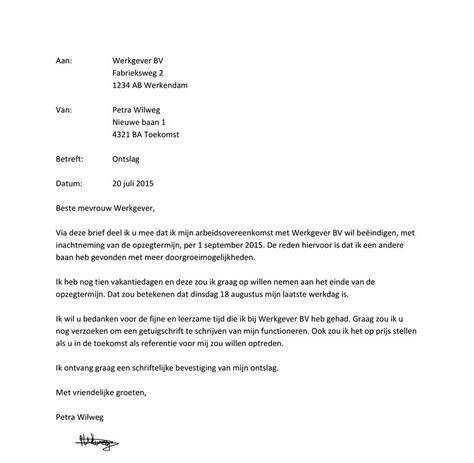 brief opstellen belgie zo schrijf je een ontslagbrief nrc