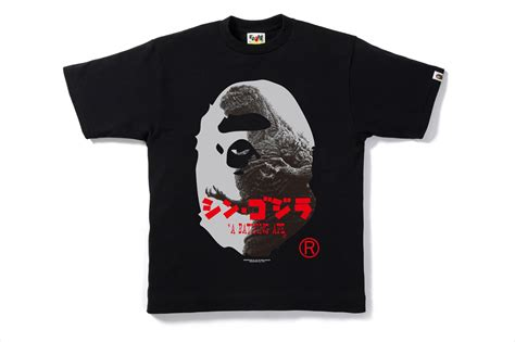 Bape Tshirt Original Black Market nowhere シン ゴジラ x a bathing ape 174