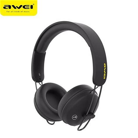 awei a800bl wireless bluetooth headphones with mic black