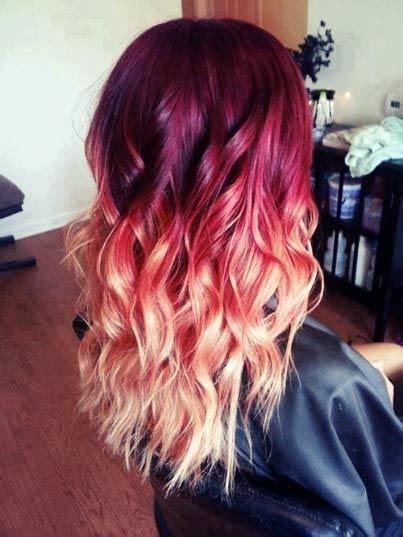 color melt hair styles burgundy to peach hair color melt best hottest hair