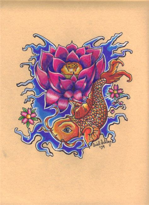 100 koi fish lotus flower tattoos ink mark koi
