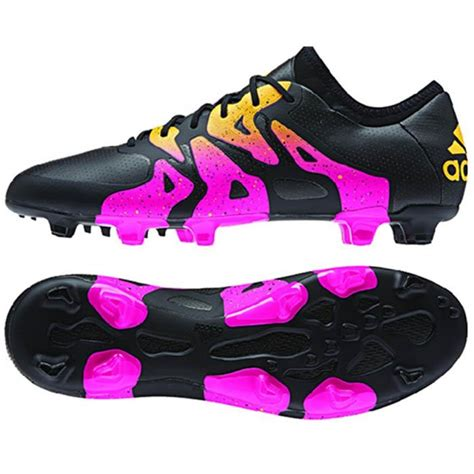 adidas x 15 1 fg ag s soccer cleats football shoes black pink gold