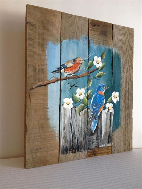 acrylic paint on wood ideas pallet painting distressed wood pallet by