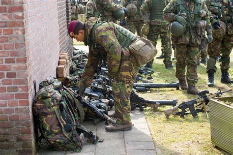 dutch armies of the armed special forces training editorial photo image of armed defence 35323626