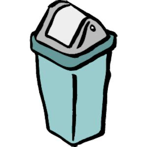 trash clip waste container clipart clipground
