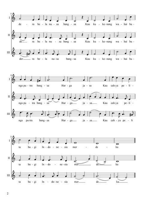 lirik lagu mengheningkan cipta not angka lagu mengheningkan cipta suara 1 dan 2 belajar