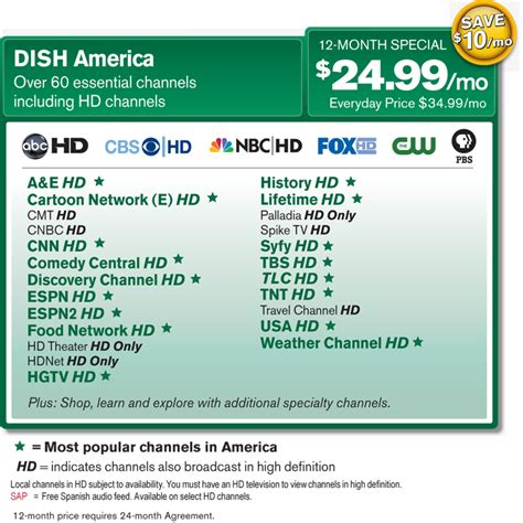 order dish network today for the best satellite tv service dish network dish america 24 99 mo the leading