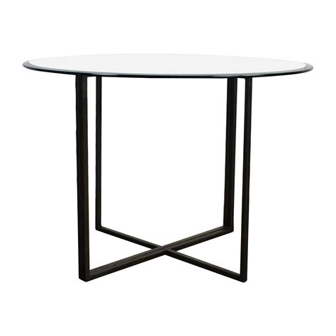 crate and barrel glass dining table 76 crate and barrel crate barrel everitt glass