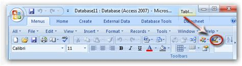 ui pattern toolbar where is design view in microsoft access 2007 2010 2013