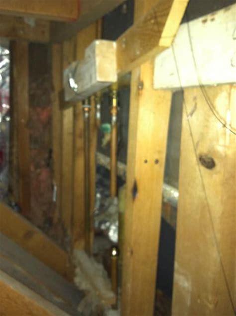 temporary basement shower temporary shower wall doityourself community forums