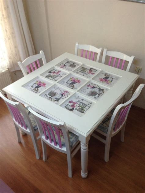 Decoupage Kitchen Table - 49 best images about country mutfak masas箟 kitchen table