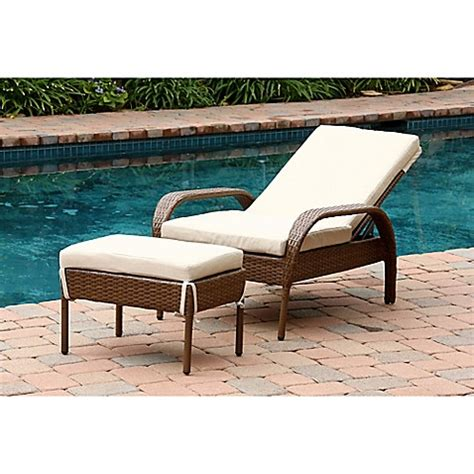 abbyson living mirabello chaise lounge abbyson living 174 palermo outdoor wicker chaise lounge with