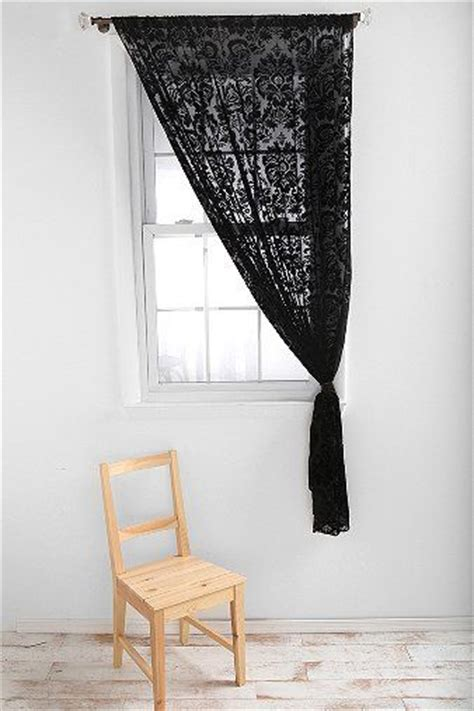 damask velvet burnout curtain black lace curtains damask velvet burnout home