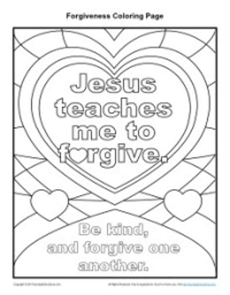 coloring pages jesus forgives jesus teaches me to forgive printable coloring page