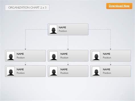 Keynote Template Organization Chart 2x3 Org Chart Template For Keynote