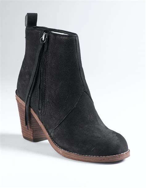 dolce vita ankle boots dolce vita jax ankle boots in black black nubuck lyst