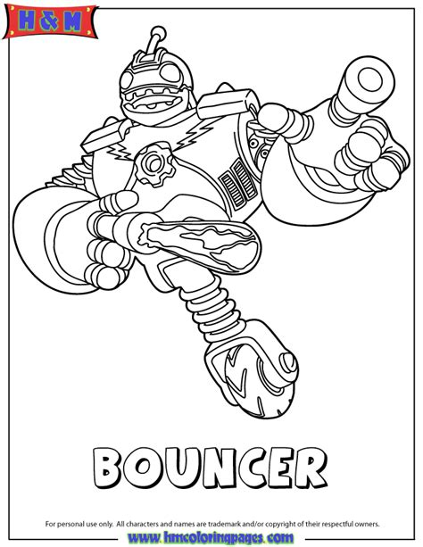 Skylanders Giants Tech First Edition Bouncer Coloring Page H M Coloring Pages Skylander Giants Coloring Pages