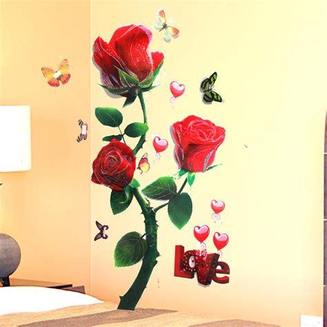 3d Wall Sticker 15968269 3d flower wall stickers sticker butterflies wallpaper flying petals poster home decor