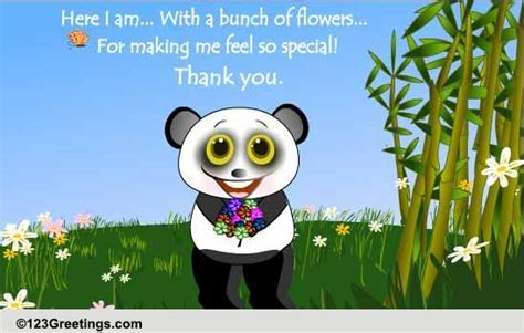 Thanks For Making Me Feel Special! Free Flowers eCards