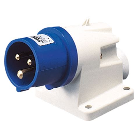 3p X 32a Wall Socket Ip44 220v Cee gewiss gw60415 angled appliance inlet 2p e 32a 220v ip44 cribb sons ltd uk