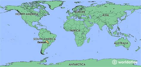 paraguay world map where is paraguay where is paraguay located in the