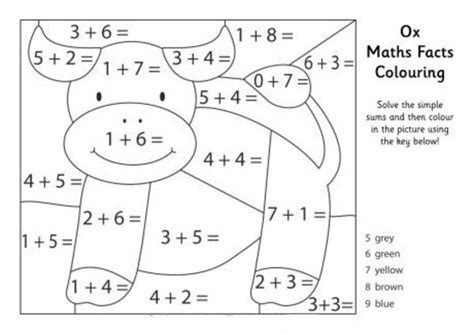 ox maths facts coloring pages picture 4 cursive writing