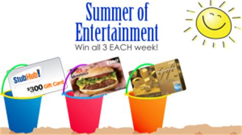 Stub Hub Gift Cards - gfs summer of entertainment sweepstakes win 500 in gift cards
