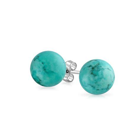 925 sterling silver turquoise stud earrings