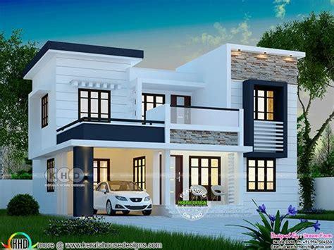 square feet modern  bedroom house plan kerala home