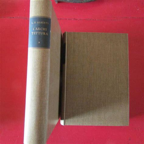 libreria pennasilico l architettura de re aedificatoria 2 volumi da