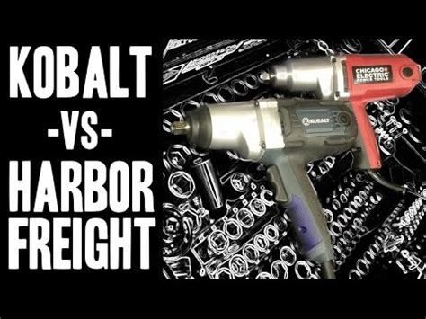 kobalt  harbor freight  corded impact wrenches