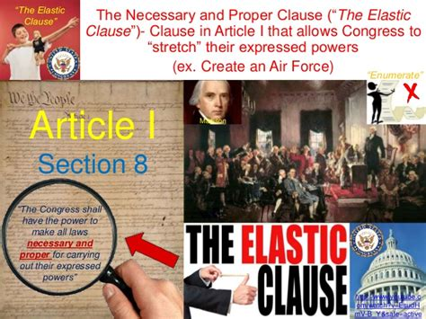 what is article i section 8 commonly known as 2 the commerce and elastic clauses