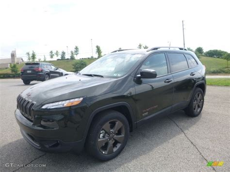 green jeep cherokee 2017 2017 recon green jeep cherokee 75th anniversary edition
