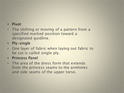 draping terminology garment draping terminology