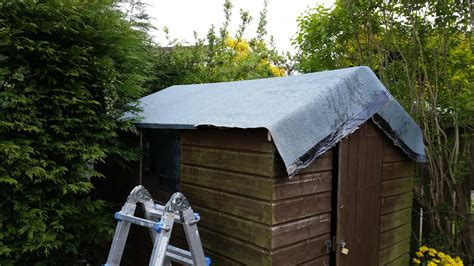 heat bonded felt  leaking shed roof ruddy services