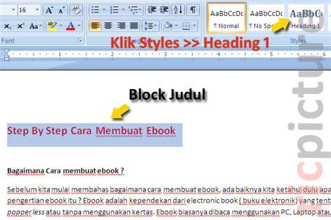 cara membuat format daftar isi di word 2007 contoh daftar isi cara membuat daftar isi di word 2007