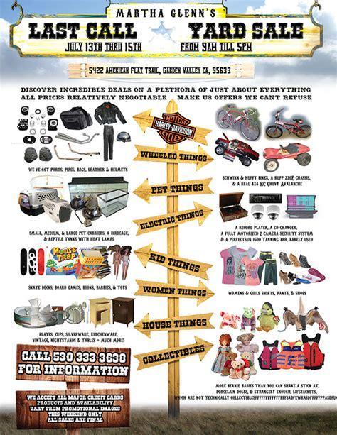 sales brochure template word martha glenn yard sale flyer on behance