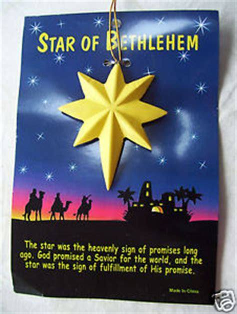 significance of christmas tree and ornaments of bethlehem ornament meaning of the new on card ebay