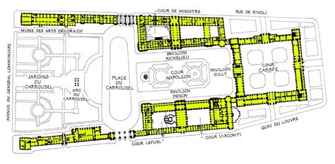 the louvre floor plan louvre museum