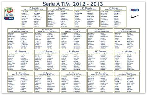 Calendario Serie A Napoli Calendario Calcio Serie A 2012 2013 Ecco Tutte Le
