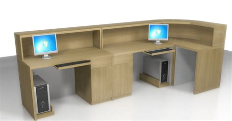 Meja Front Office office front desk and partition meja customer service