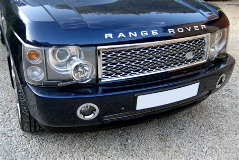 chrome land rover chrome silver supercharged style grille upgrade kit for