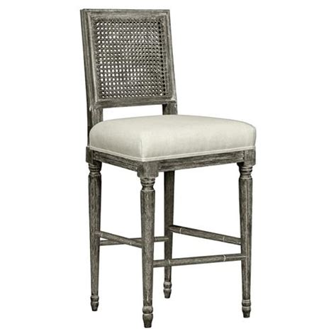 gray linen counter stool gamay country grey oak caned linen counter stool