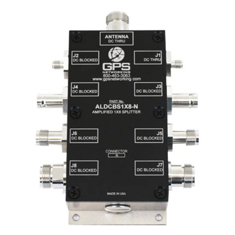 gps active antenna splitter 1x8