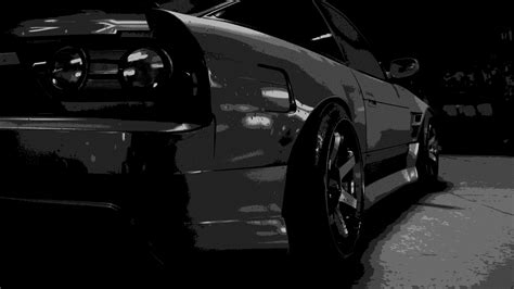hd black car wallpapers monochrome black car nissan 180sx need for speed