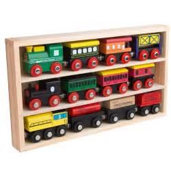brio compatible train orbrium toys 12 pcs wooden engines train cars collection