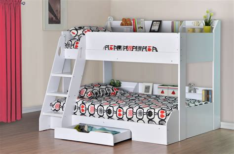 bunk bed with flair furnishings flick triple bunk bed white products
