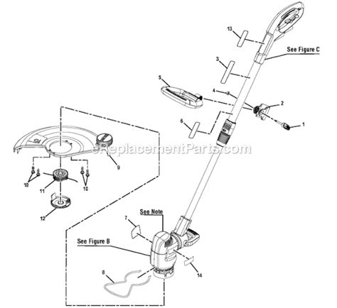 ryobi string trimmer parts diagram ryobi ry41140 parts list and diagram ereplacementparts