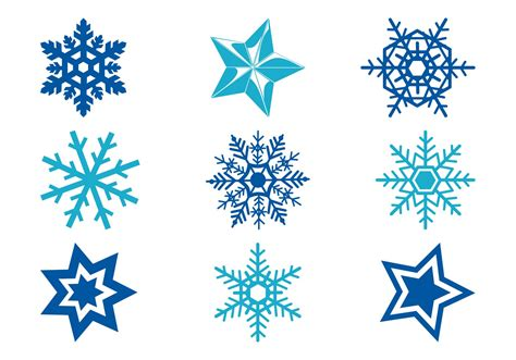 stars and snowflakes download free vector art stock